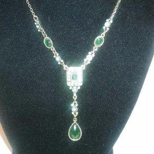 Vintage Avon Teardrop Gem stone Necklace